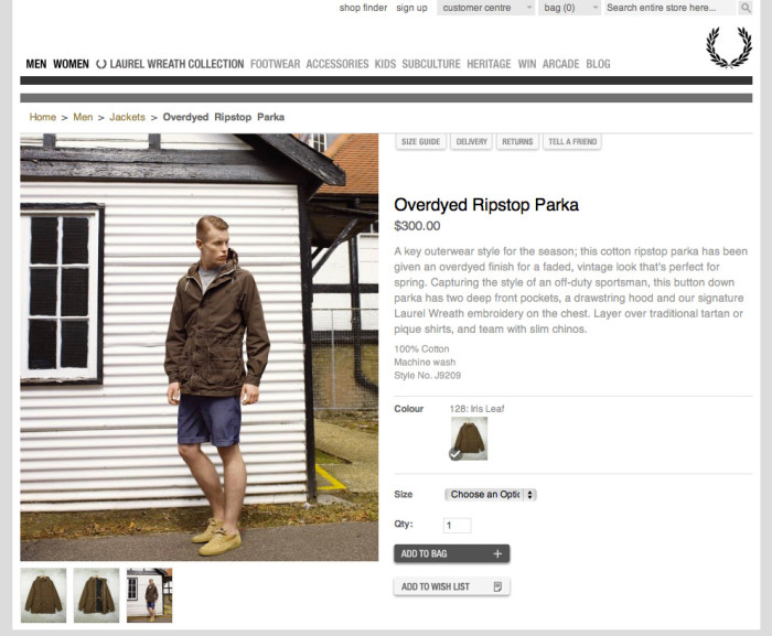 Fred Perry opens USA online store