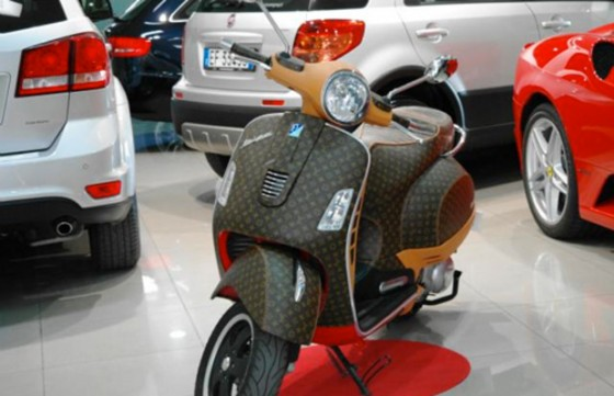 A Leather-wrapped Louis Vuitton Vespa